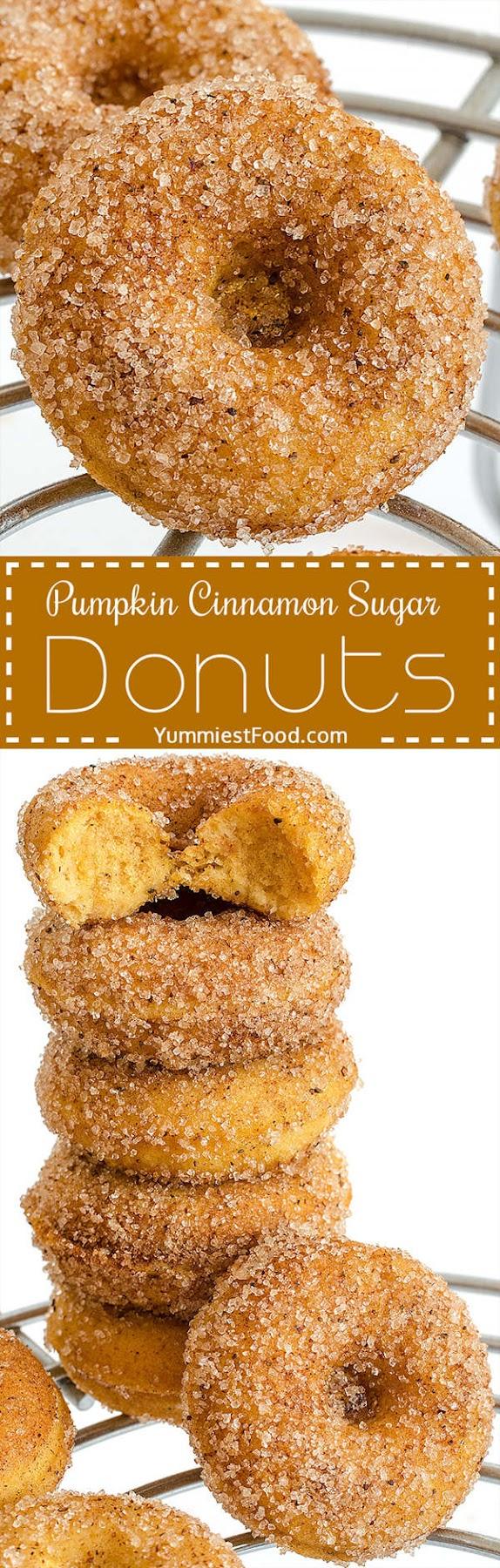 Pumpkin Cinnamon Sugar Donuts Recipe