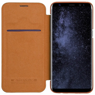 NILLKIN QIN LEATHER FLIP CASE SAMSUNG GALAXY S8 BROWN