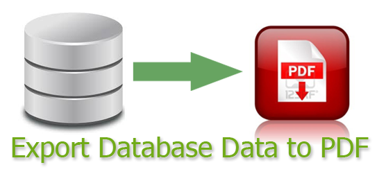 How to export database data to PDF file in ASP NET  | DotNet