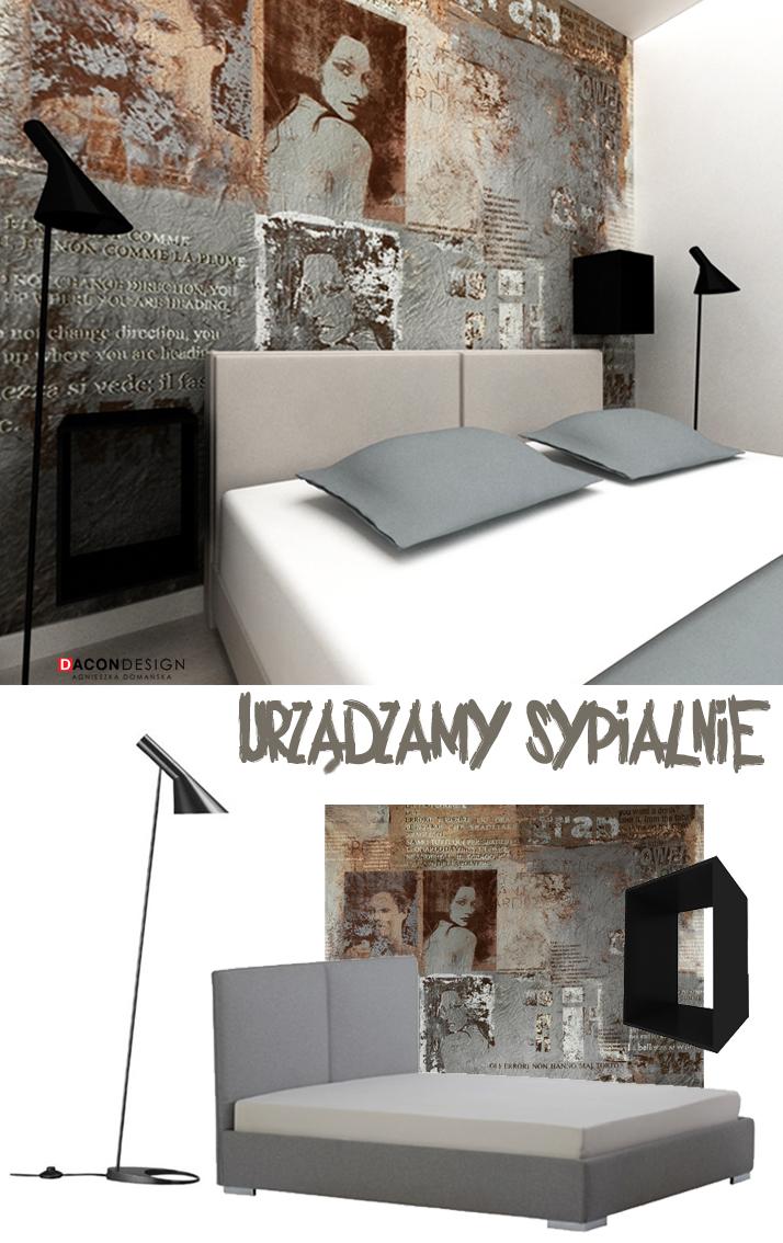Dacon-Design-architekt-sypialnia-tapeta-paparazzi-biurko-plakat-szafa