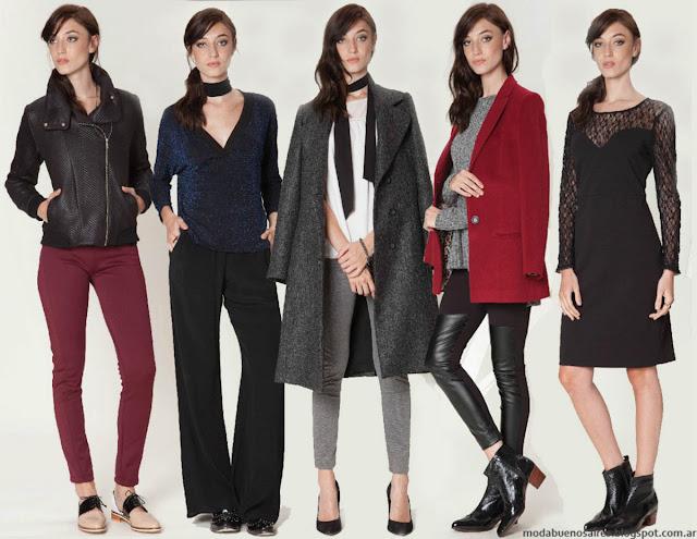 Moda otoño invierno 2016:Tapados, vestidos, blusas y pantalones Asterisco.