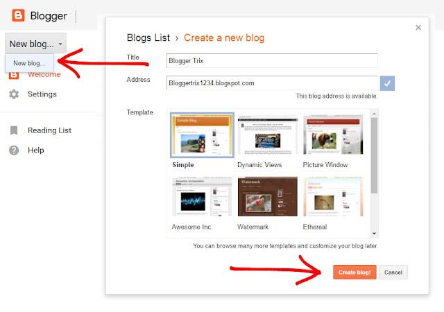 Start a free blog