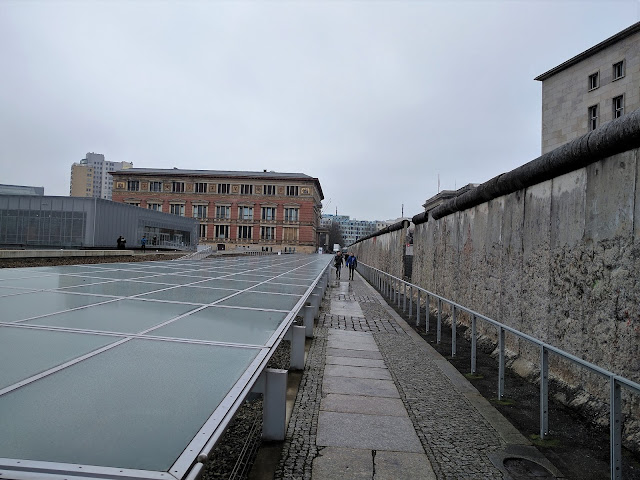 Topography of Terror Documentation Center and a fragment of Berlin Wall