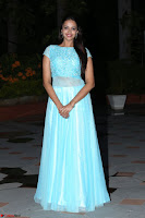 Pujita Ponnada in transparent sky blue dress at Darshakudu pre release ~  Exclusive Celebrities Galleries 117.JPG