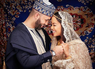 Another stunning photo of Mairama Indimi and her groom