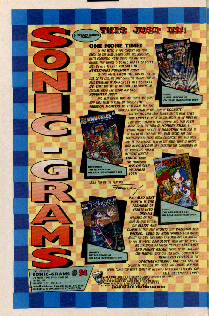 Read online Sonic The Hedgehog comic -  Issue #54 - 26