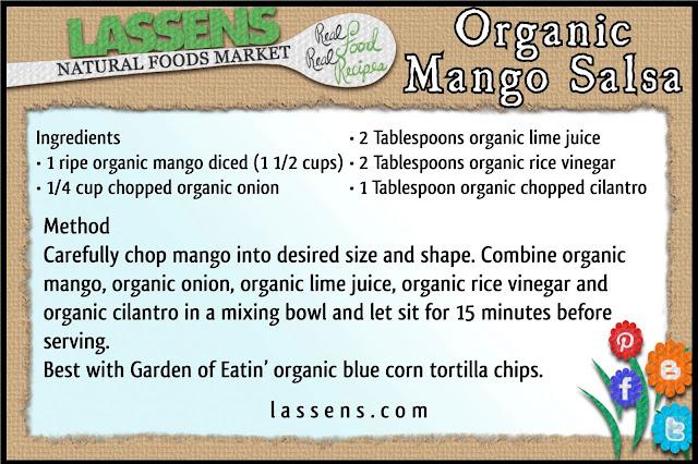 lassensloves.com, Lassen's, Organic+Mango+Salsa, Mango+Salsa