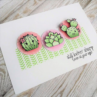 Birthday card with Sticky note stamp set from Pink & Main