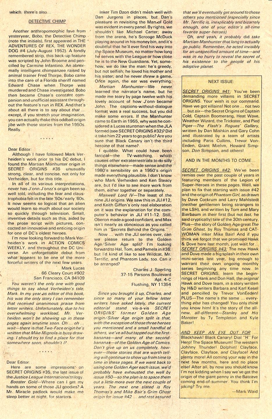 Read online Secret Origins (1986) comic -  Issue #40 - 46