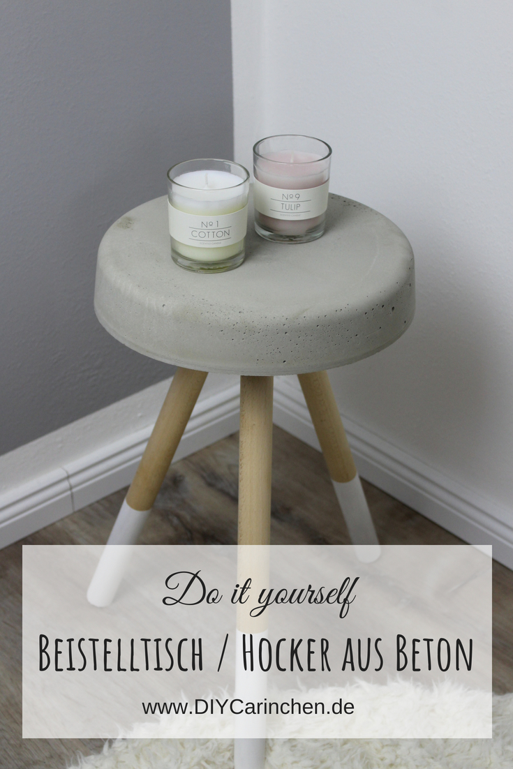 diy beistelltisch hocker aus beton selber machen eine wundersch ne deko f r jeden raum. Black Bedroom Furniture Sets. Home Design Ideas