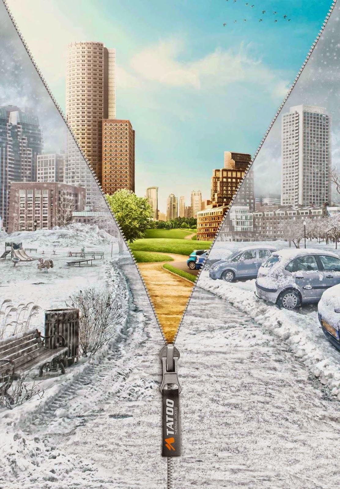 Publicidad e ilustración marketing -chaqueta térmica