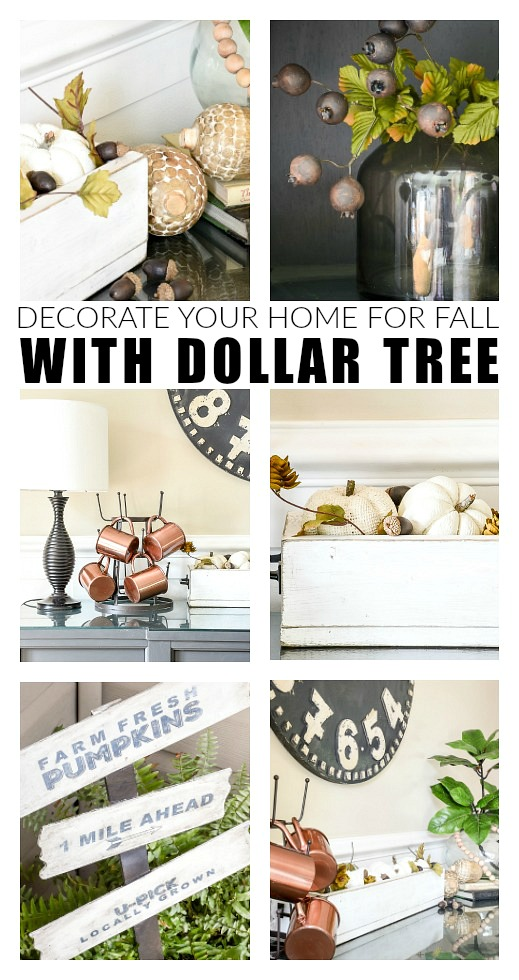 How to Decorate Your Home For Fall With Dollar Tree