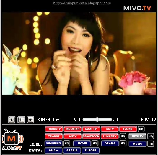 Live Streaming Sctv: Nonton Tv Online Gratis: MIVO TV