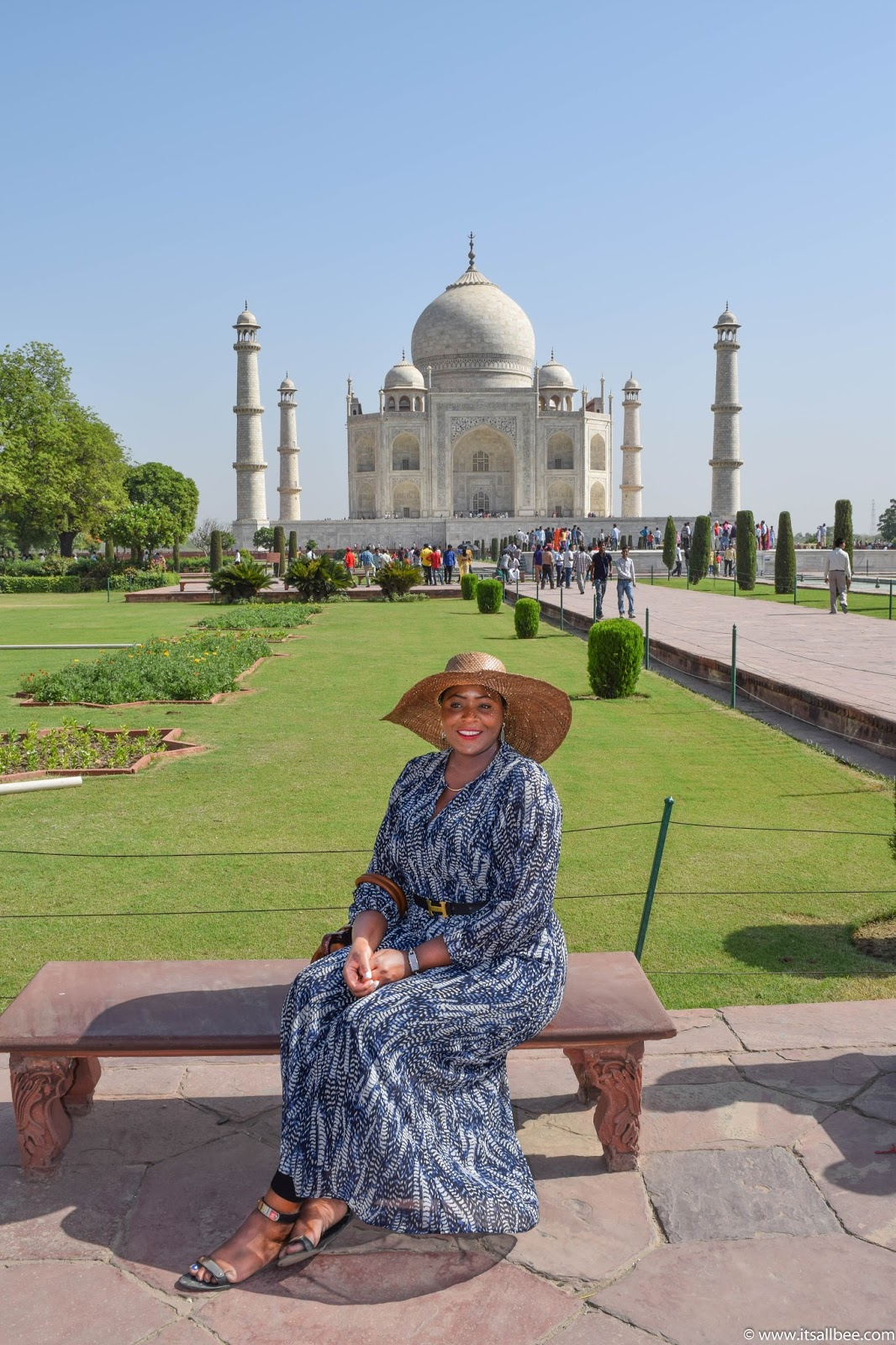 Taj Mahal,  Agra - India. Photo by Bianca - www.itsallbee.com