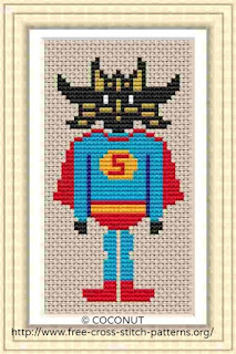 Hero 3, Free and easy printable cross stitch pattern