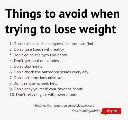 Things to avoid when trying to lose weight | Health & nutrition