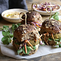 Baked-Pine-Nut-Falafel-Sliders-with-Hummus-Slaw
