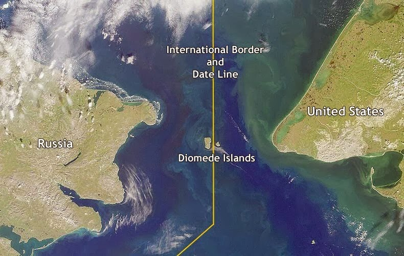 10 Amazing Border between Countries | The border between USA and Russia, the Diomedes