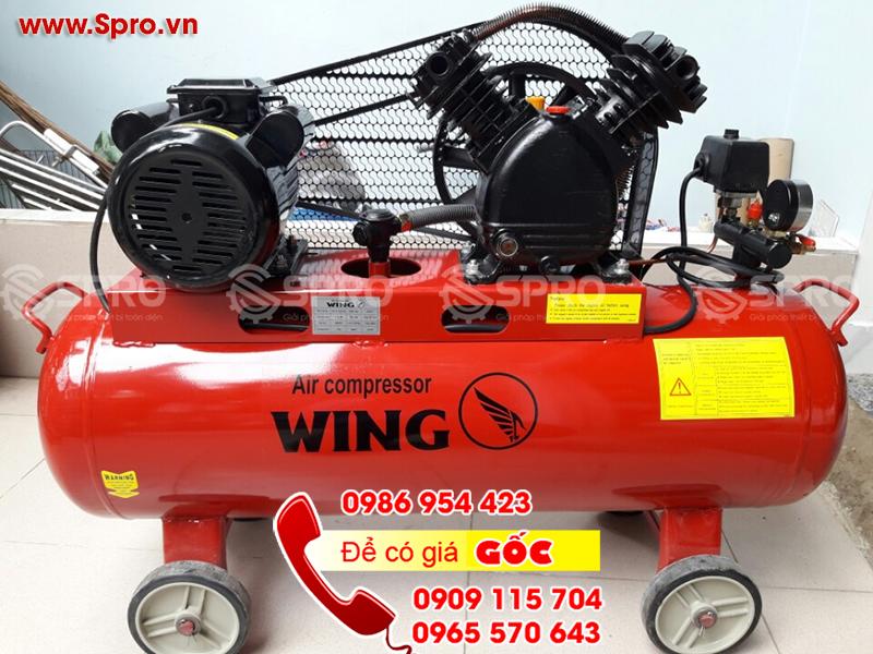 Máy bơm hơi, máy nén khí 1.5 HP dung tích 70L WING TM-V-0.12/8-7