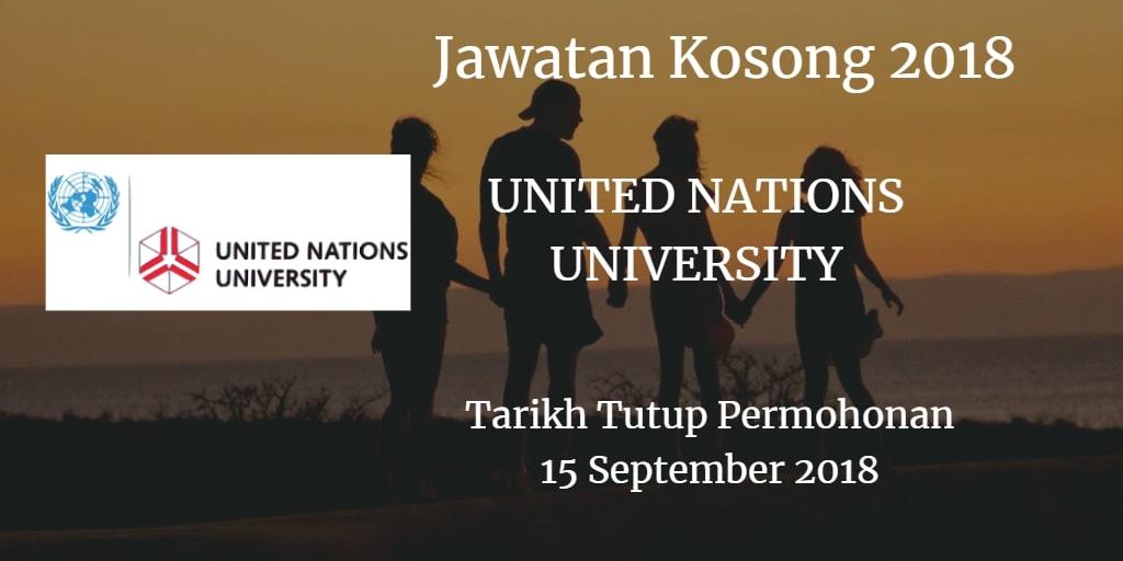 Jawatan Kosong UNU 15 September 2018