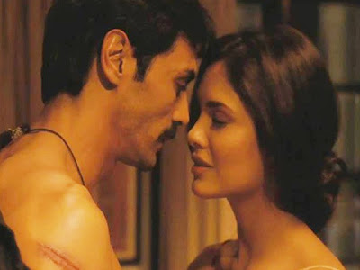 Arjun Rampal as Adil Khan, Esha Gupta as Adil's Wife Rhea Menon, Chakravyuh (2012), Directed by Prakash Jha
