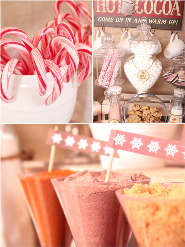 DIY Hot Cocoa Bar for the Holidays - via BirdsParty.com