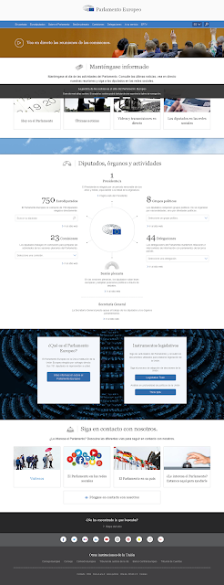 Web del parlamento europeo se adapta a tu pantalla