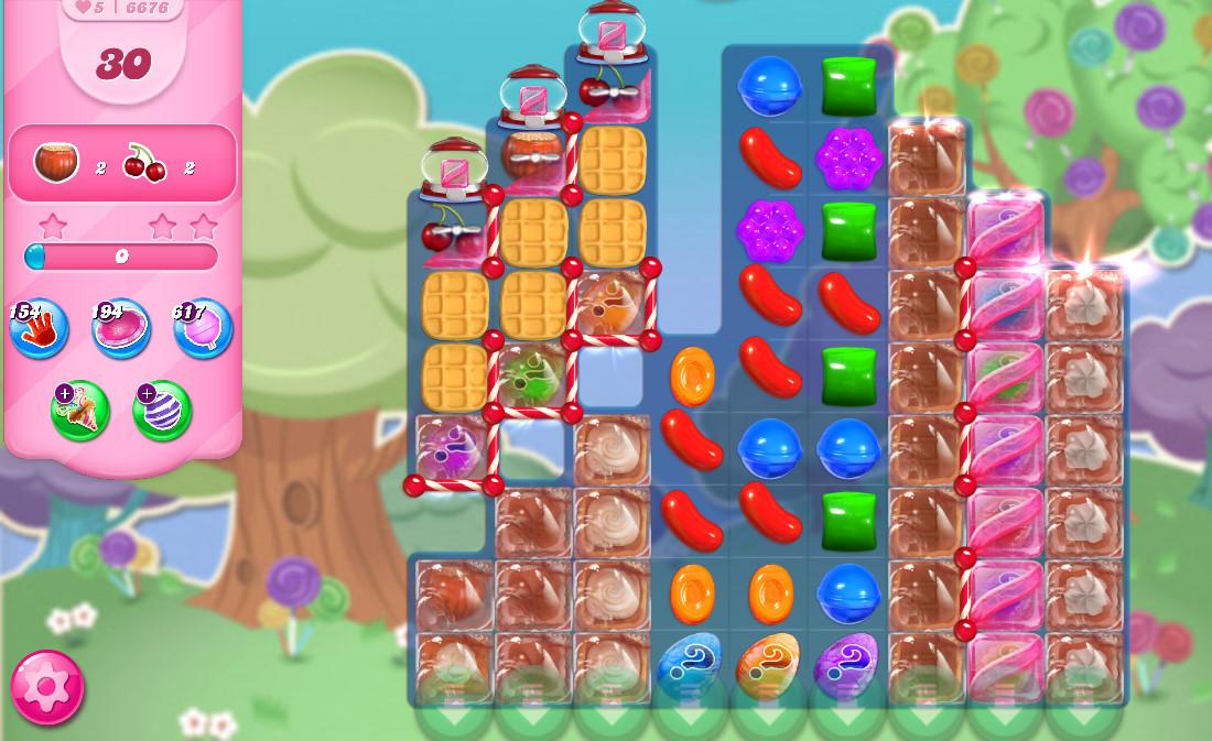 Candy Crush Saga level 6676