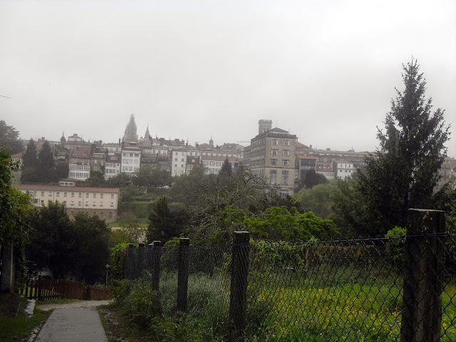 de camino al casco antiguo de Santiago de Compostela