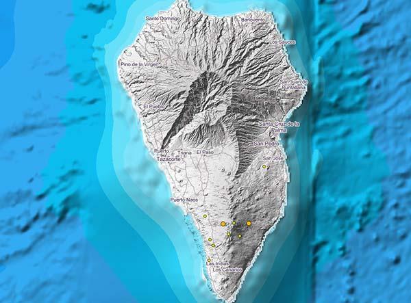 Mas de la decena de micro terremotos en La Palma