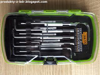 Zestaw kluczy imbusowych Niteo Tools z Biedronki set of allen keys