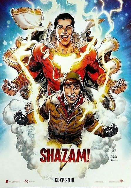 Um dos filmes da DC mais aguardados, ganha novo cartaz. Nele é possível ver Billy se transformando no herói Shazam – Confira!