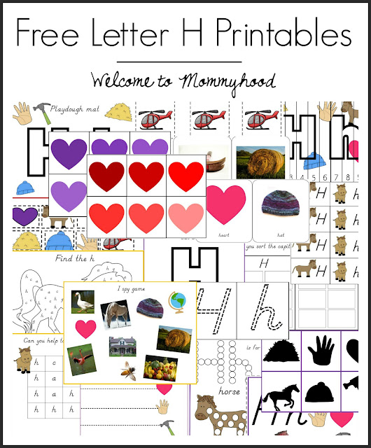 Tot Labs presents hands on letter Hh printables for toddlers and preschoolers by Welcome to Mommyhood, #preschoolactivities, #montessoriactivities, #montessori, #handsonlearning, #letteroftheweek, #lotw, #freeprintables