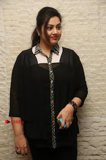 Tamil Actress Meena Latest Stills in Black Dress at TSR TV9 Awards Press Meet  0021.JPG