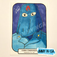 "Cobra Commander (Hooded) - Copic Makers on 2.5"" x 3.5"" Sketch Cards"