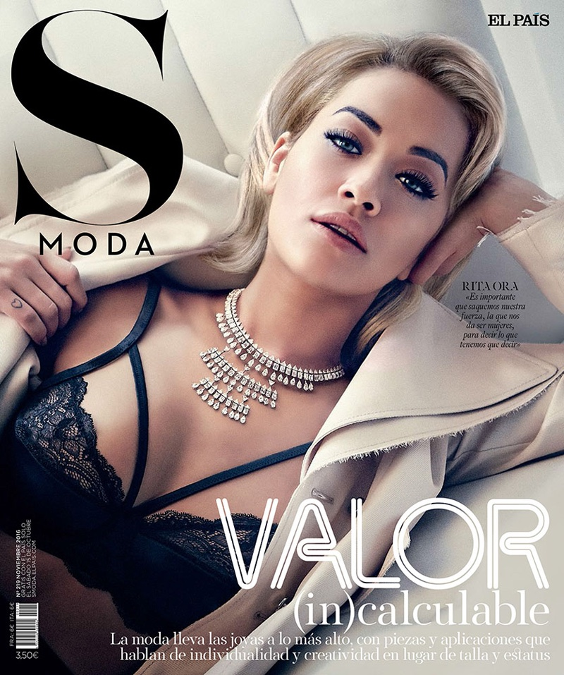 Rita Ora covers S Moda magazine, November 2016.