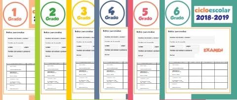 Exámenes de Primaria Ciclo Escolar 2018-2019