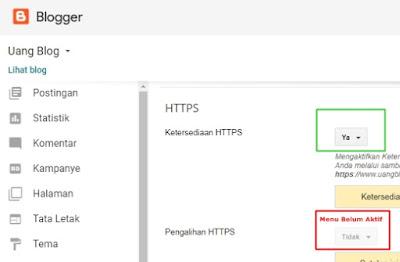 Pengalihan HTTPS belum Aktif