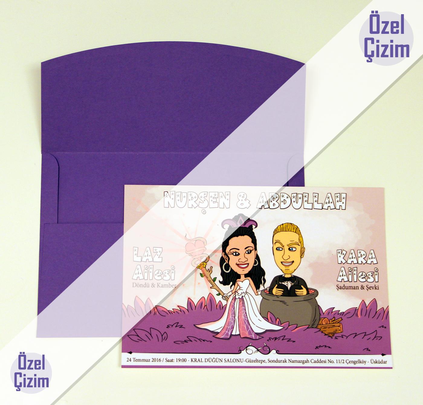 karikatürlü düğün davetiyesi, komik düğün davetiyesi, karikatürlü davetiye, düğün davetiyesi, ilginç düğün davetiyesi,farklı düğün davetiyesi,davetiye çizdir,komik gelin damat,karikatür çizdir, Özel Çizim,