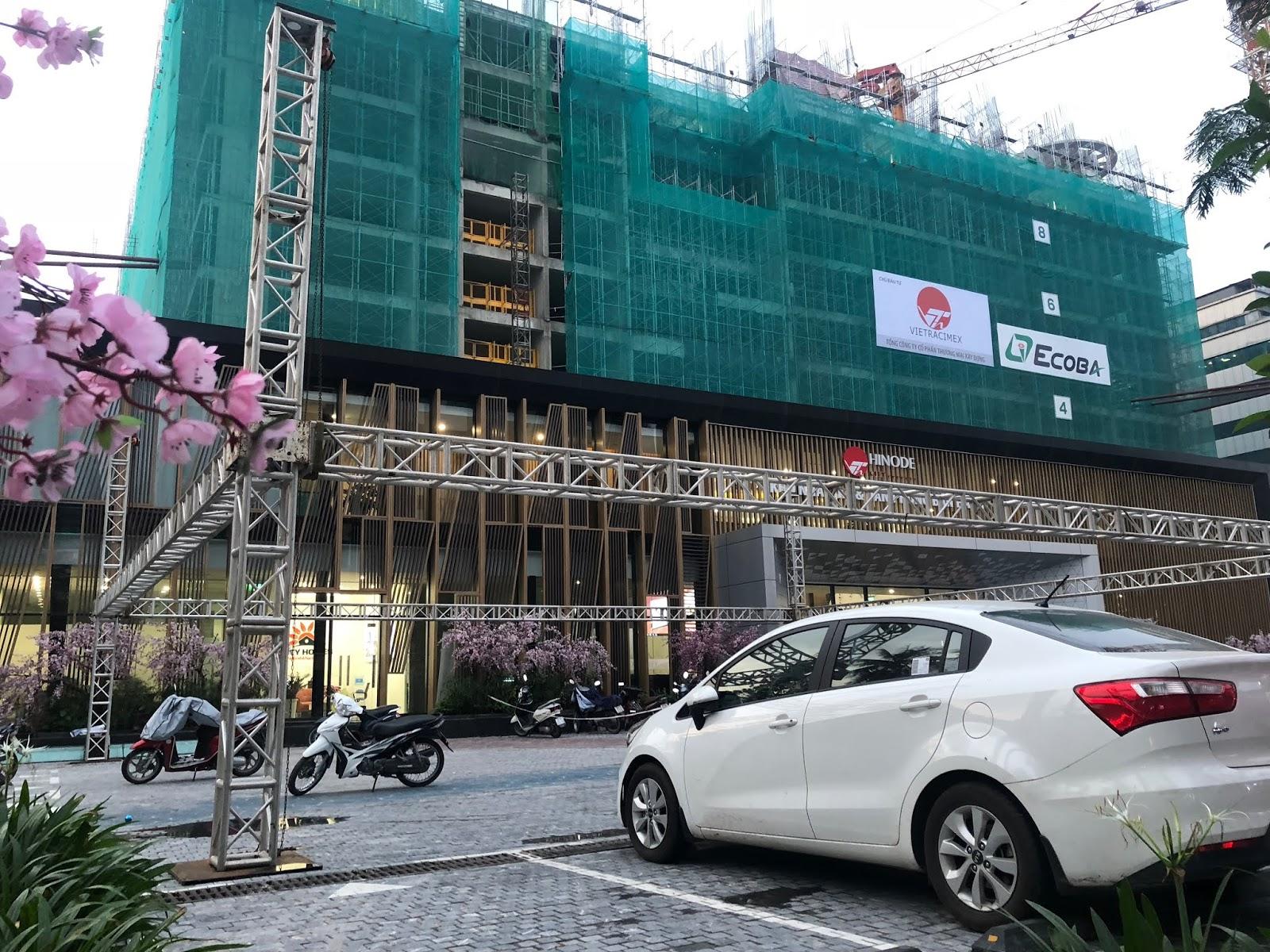 Hình ảnh tiến độ được chụp từ góc đường Minh Khai