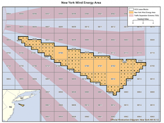 New York Wind Energy Area (Credit: BOEM) Click to Enlarge.