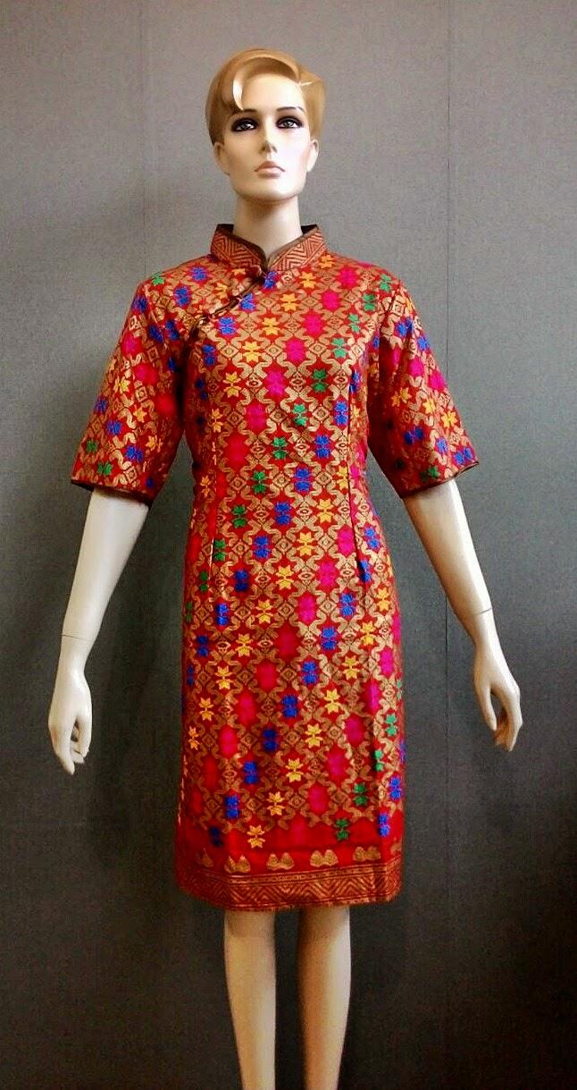 Batik Bagoes Solo: Model Baju Batik Dress Cheongsam