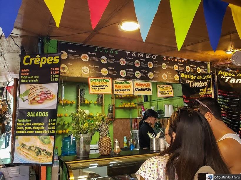 Barraca de sucos na Feira de Santa Lúcia - o que fazer em Santiago