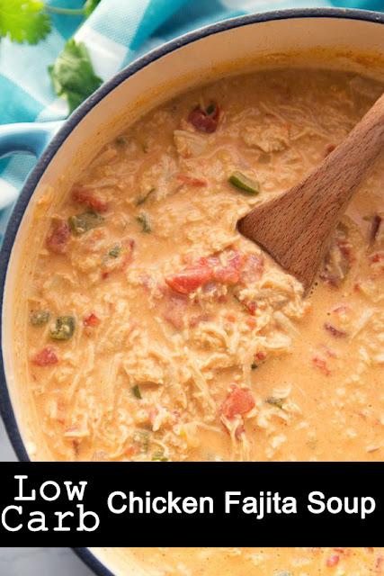Yummy Low Carb Chicken Fajita Soup Recipe