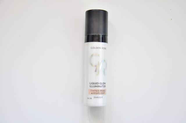 rozświetlająca baza pod makijaż golden rose liquid glow illuminator tinted prime&highlight