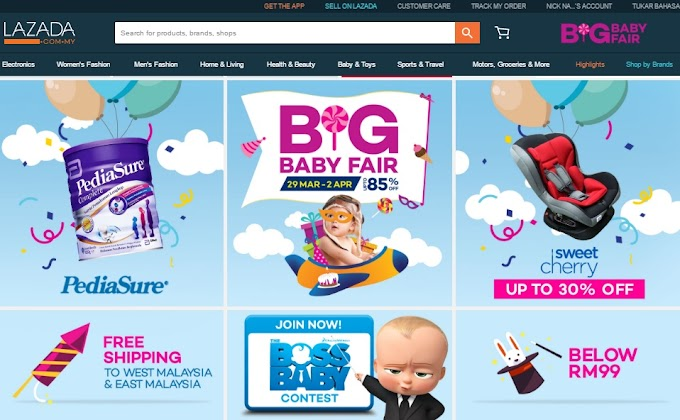 Lazada Malaysia Big Baby Fair : Promosi Barang Bayi Murah