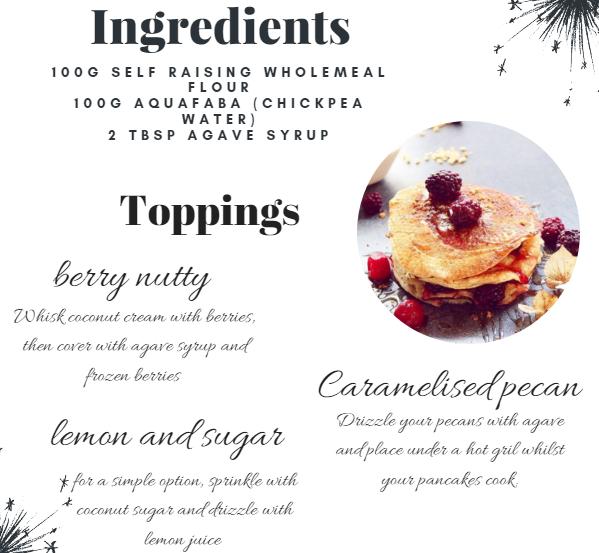 three ingredients, pancakes, healthy, kids, quick, simple, tasty, berries, lemon, sugar, pecan, vegetarian