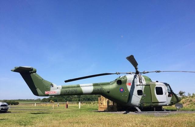 Westland Lynx XZ676 British helicopter in Kosovo
