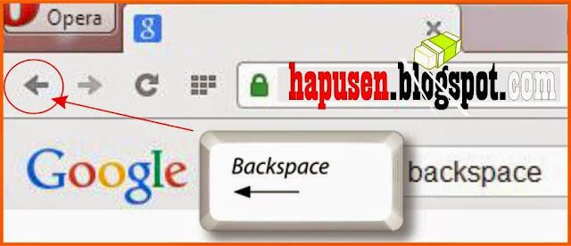 fungsi backspace untuk menghapus
