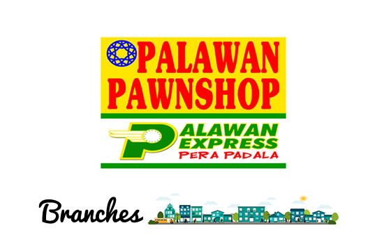 List of Palawan Pawnshop, Express Pera Padala Branches